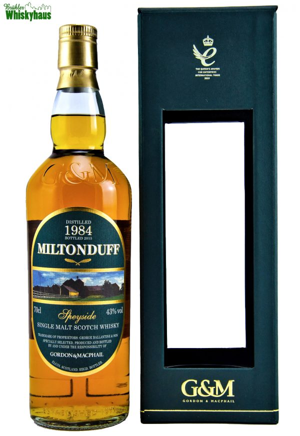 Miltonduff Vintage 1984 - 2015 - Refill Ex-Bourbon Barrels - Gordon & MacPhail - Single Malt Scotch Whisky