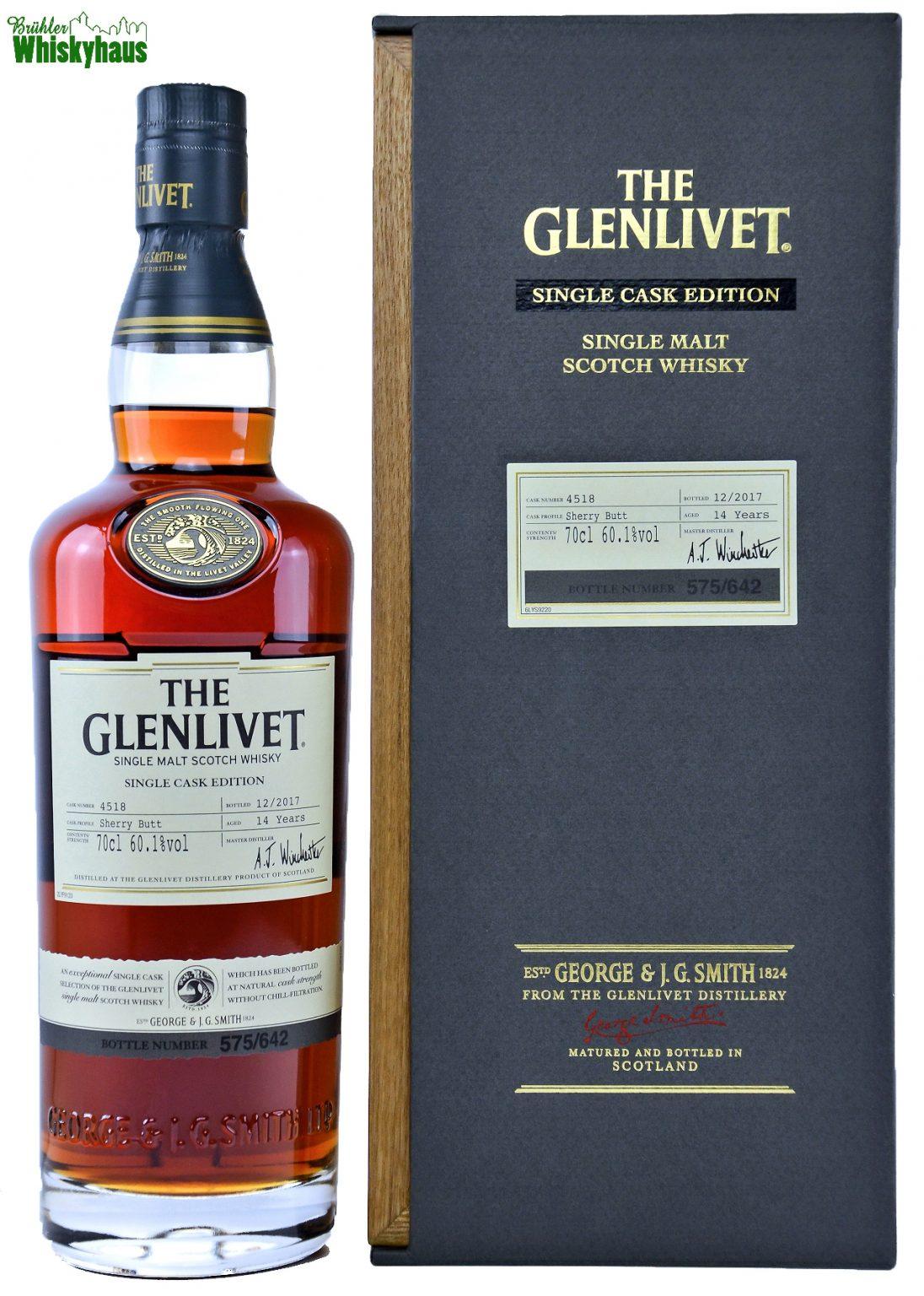 Glenlivet Vintage - 14 Jahre - Single Cask Edition - Sherry Butt No. 4518 - Single Malt Scotch Whisky