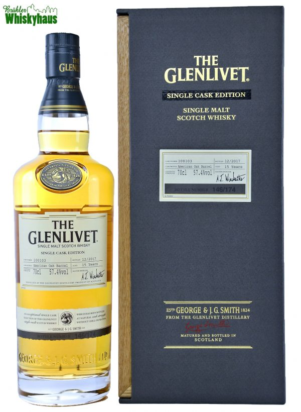 Glenlivet Vintage - 15 Jahre - Single Cask Edition - American Oak Barrel No.100103 - Single Malt Scotch Whisky