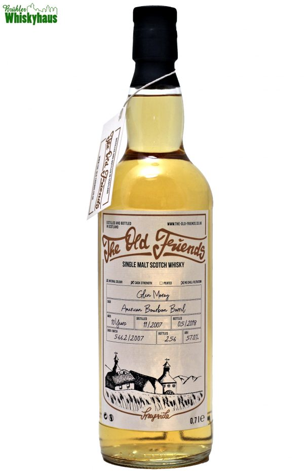 Glen Moray 10 Jahre - American Bourbon Barrel No. 5662/2007 - The Old Friends - Single Malt Scotch Whisky
