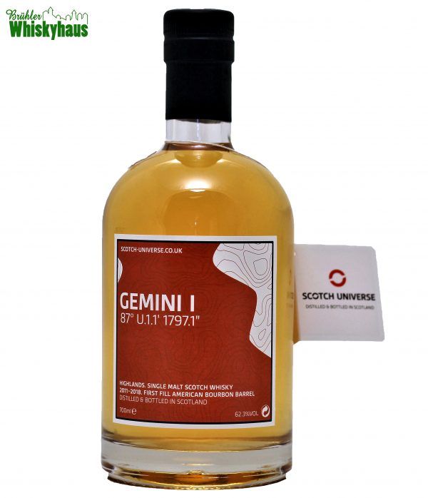 "Gemini I 7 Jahre - 87° U.1.1` 1797.1"" - First Fill American Bourbon Barrel - Scotch Universe - Single Malt Scotch Whisky"