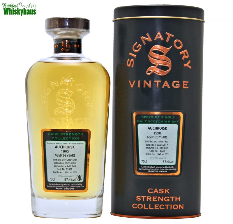 Auchroisk 26 Jahre - Refill Butt Cask N°13828 - Cask Strength Collection - Signatory Vintage - Speyside Single Malt Scotch Whisky