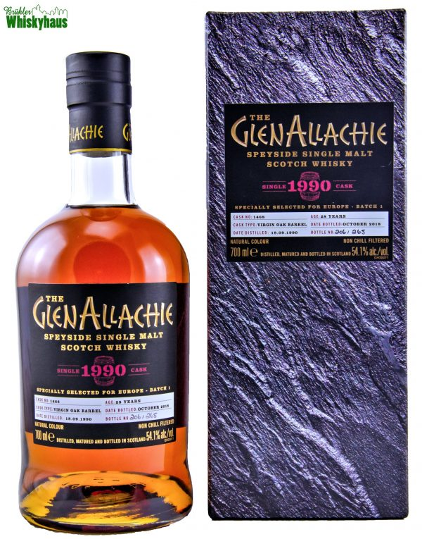 Glenallachie 28 Jahre - Virgin Oak Barrel No. 1468 - Specially Selected For Europe - Batch 1 - Speyside Single Malt Scotch Whisky