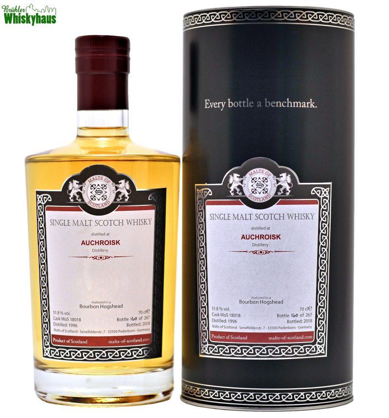 Auchroisk 21 Jahre - Bourbon Hogshead MoS 18018 - Malts of Scotland - Single Malt Scotch Whisky