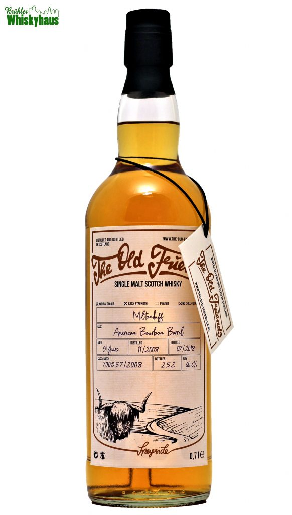 Miltonduff 9 Jahre - American Bourbon Barrel No. 700957/2008 - The Old Friends - Single Malt Scotch Whisky