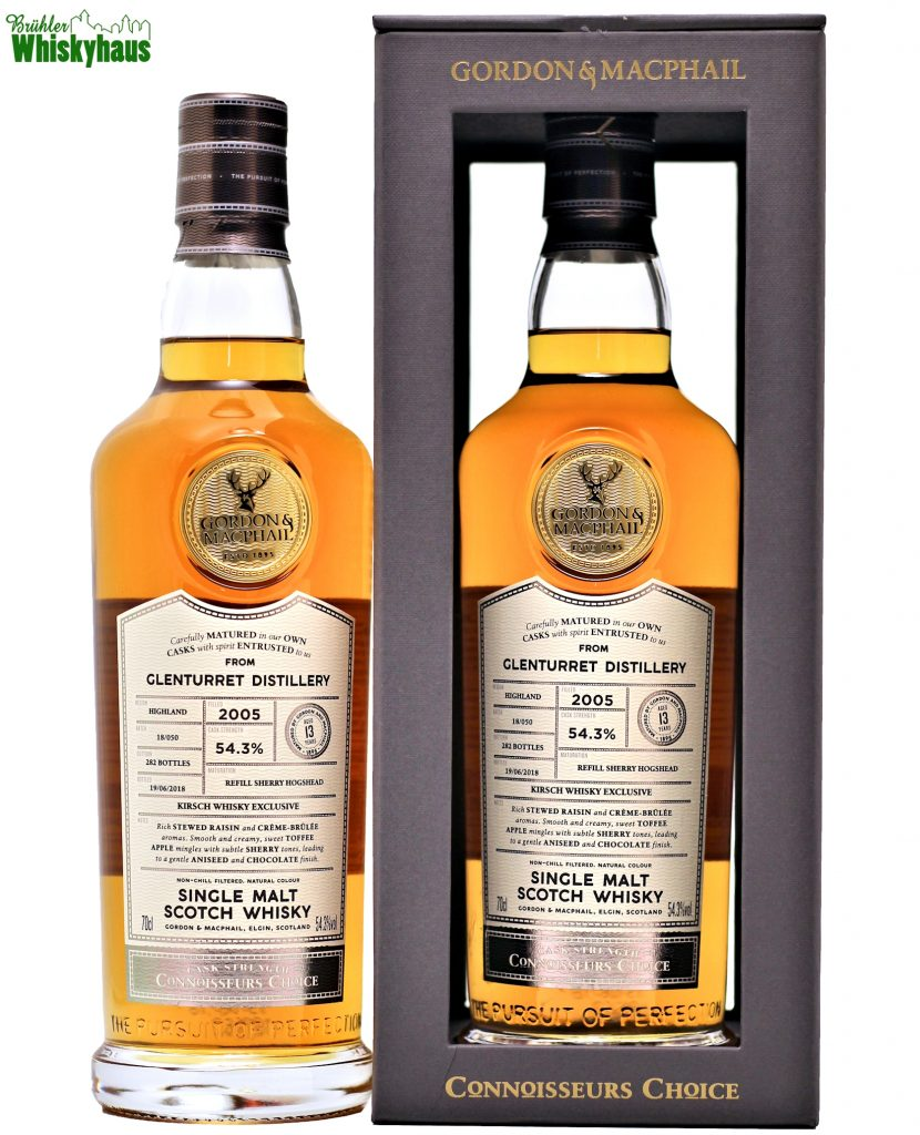 Glenturret 13 Jahre - Refill Sherry Hogshead Batch 18/050 - Gordon & MacPhail - Single Malt Scotch Whisky