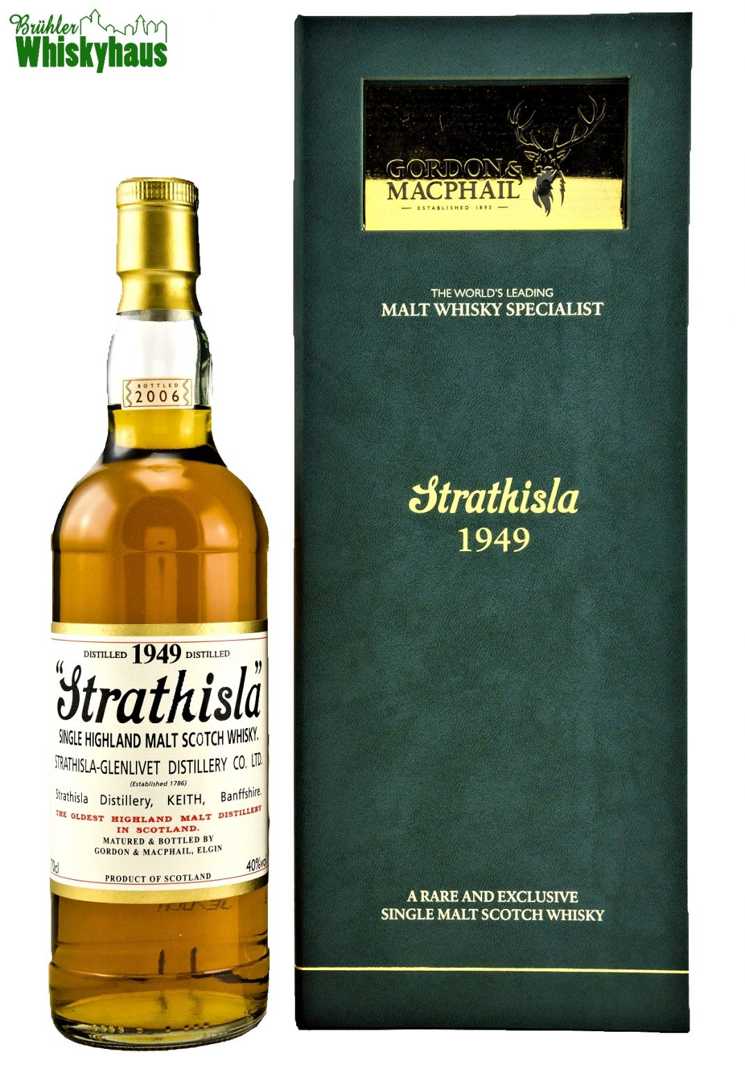Strathisla Vintage 1949 - 56 Jahre - Refill Sherry Butt No. 384 - Gordon & MacPhail - Single Malt Scotch Whisky