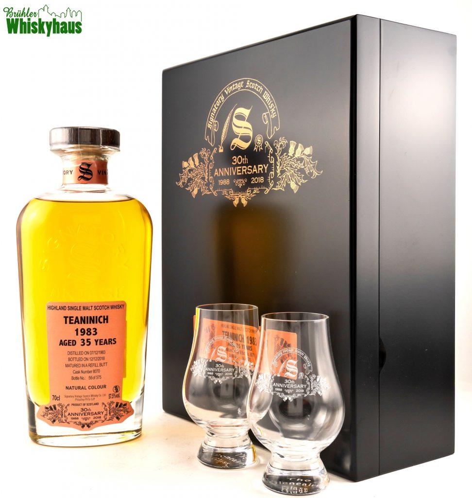 Signatory 30th Anniversary - Teaninich 35 Jahre - Vintage 1983 - Refill Butt / Cask Number 8070 - Highland Single Malt Scotch Whisky