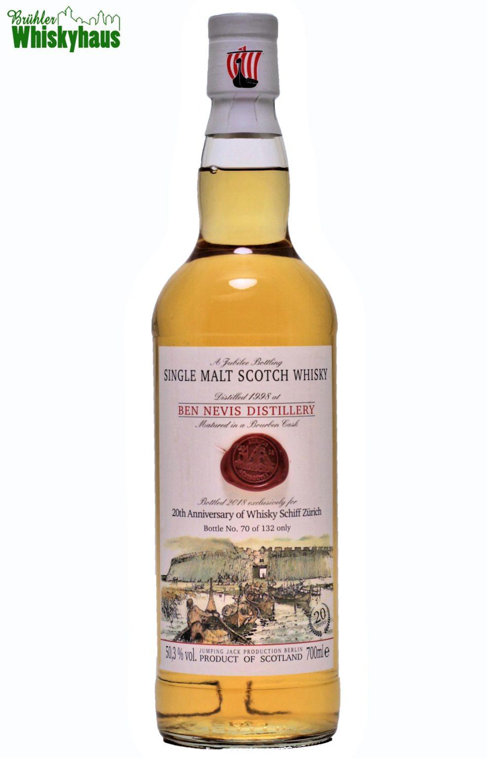 "Ben Nevis 20 Jahre - Bourbon Cask - ""20th Anniversary of Whisky Schiff Zürich"" by Jack Wiebers Whisky World - Highland Single Malt Scotch Whisky"