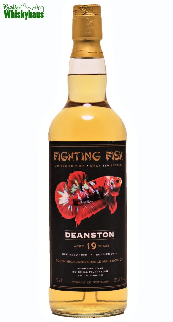 Deanston 19 Jahre - Bourbon Cask - Fighting Fish by Jack Wiebers Whisky World - Single Malt Scotch Whisky