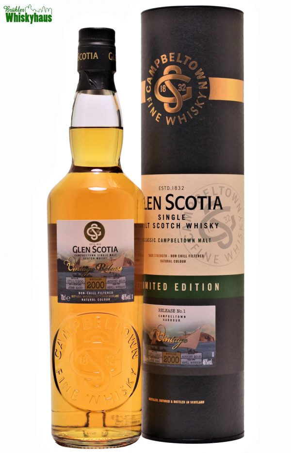 Glen Scotia 18 Jahre - Refill Bourbon Cask - Distillery Bottling Vintage Release N°1 - Single Malt Scotch Whisky