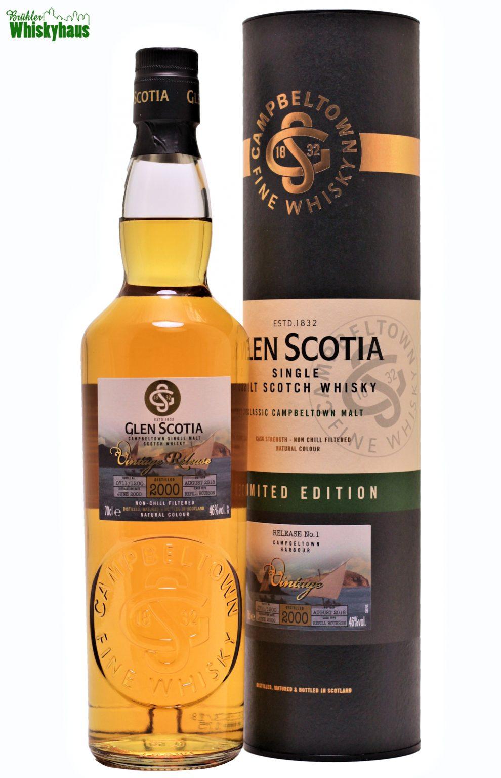 Glen Scotia 18 Jahre - Refill Bourbon Cask - Distillery Bottling Vintage Release N°1 - Single Malt Scotch Whisky