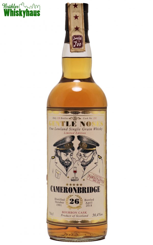 Cameronbridge 26 Jahre - Bourbon Cask N°231 - Gentle Noses by Jack Wieber - Single Malt Scotch Whisky
