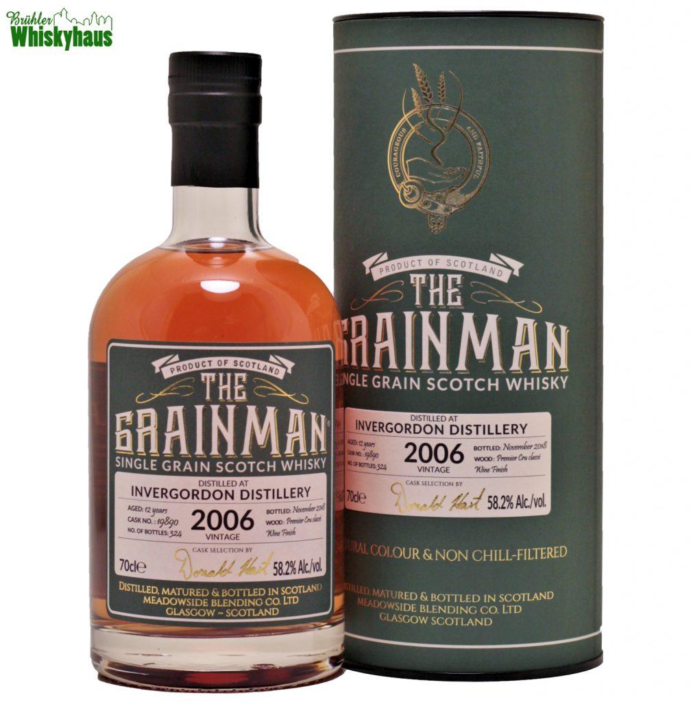Invergordon 12 Jahre - Premier Cru classe Wine Finish - The Grainman - Single Grain Scotch Whisky