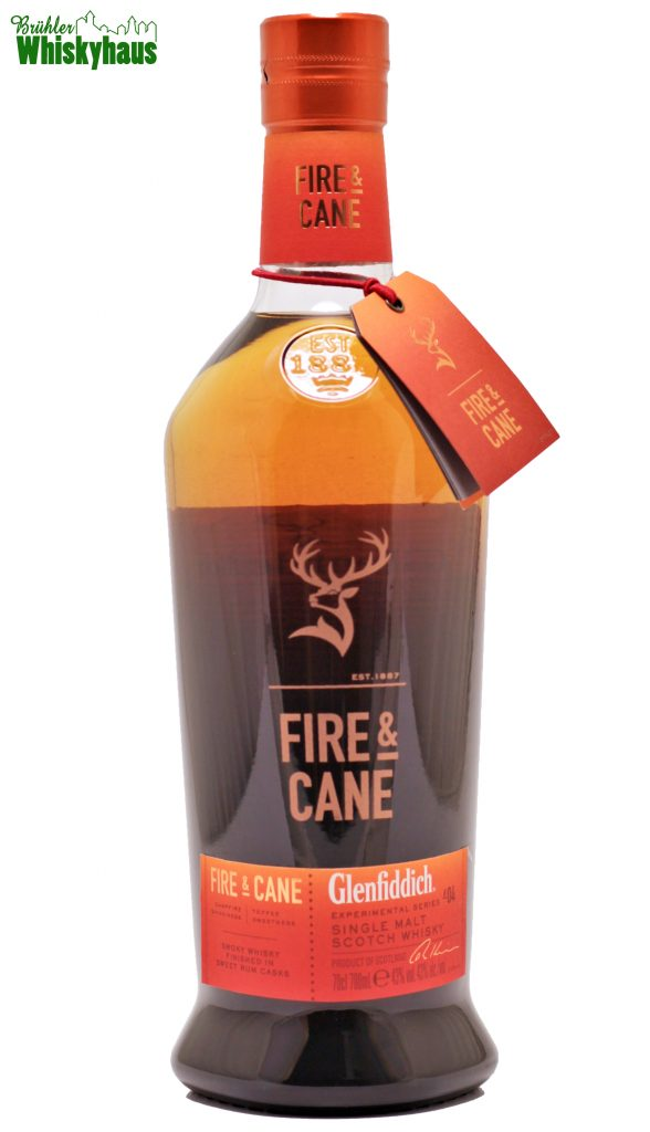 "Glenfiddich ""Fire and Cane"" - Rum Cask Finish - Experimental Series N°4 - Distillery Bottling - Single Malt Scotch Whisky"