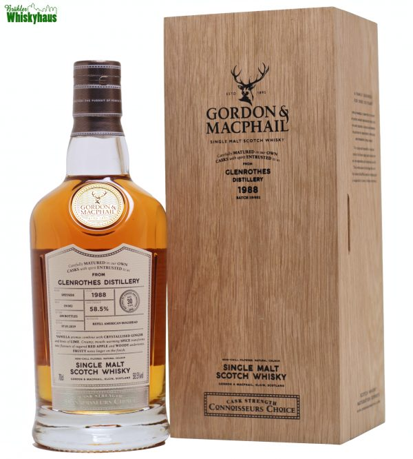 Glenrothes 30 Jahre - Vintage 1988 - Refill American Hogshead Batch 19/002 - Gordon & McPhail Connoisseurs Choice - Single Malt Scotch Whisky