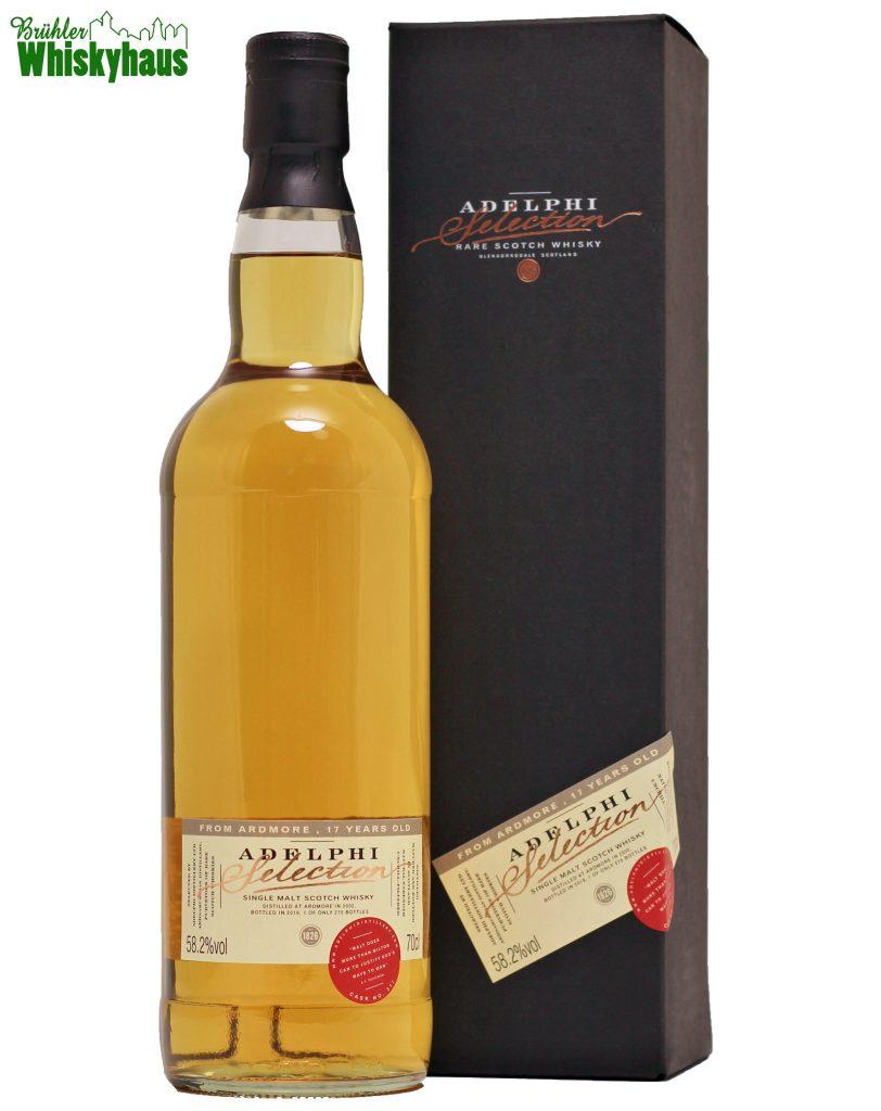 Ardmore 17 Jahre - Bourbon Cask N° 317 - Adelphi Selection - Single Malt Scotch Whisky