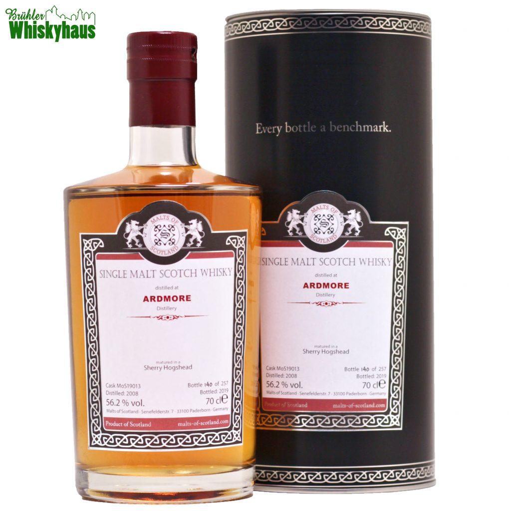 Ardmore 11 Jahre - Sherry Hogshead Cask N° 19013 - Malts of Scotland - Single Malt Scotch Whisky