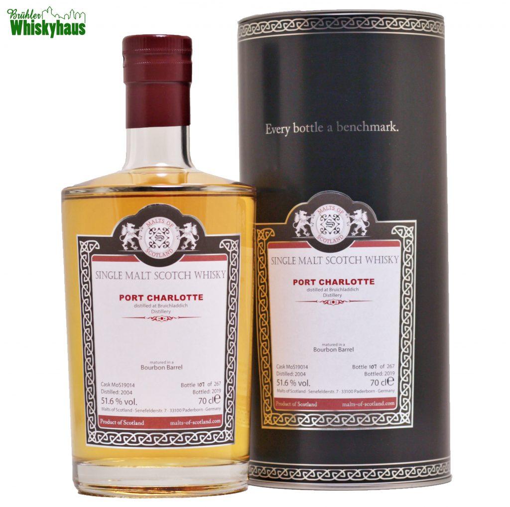 Port Charlotte 15 Jahre - Bourbon Barrel Cask 19014 - Malts of Scotland - Single Malt Scotch Whisky