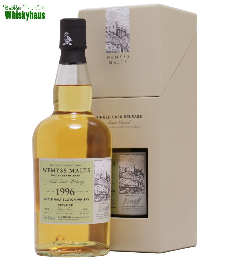 "Glenrothes 22 Jahre - ""Auld Scots Bakery"" - Hogshead - Wemyss Malt - Single Malt Scotch Whisky"