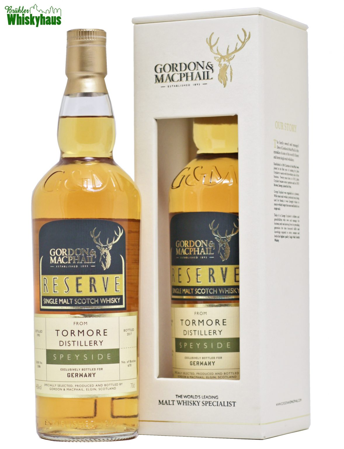 Tormore 21 Jahre - Refill Sherry Puncheon - Gordon & MacPhail -Single Malt Scotch Whisky