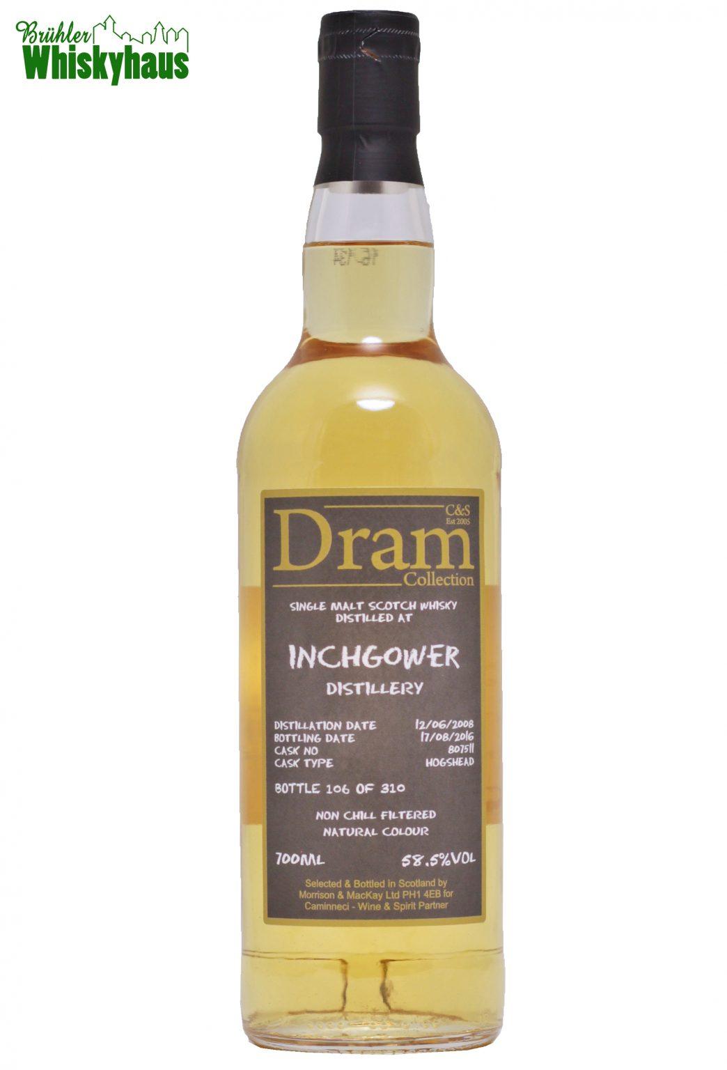 Inchgower 8 Jahre - Hogshead N^ 807511 - C&S Dram Collection - Single Malt Scotch Whisky