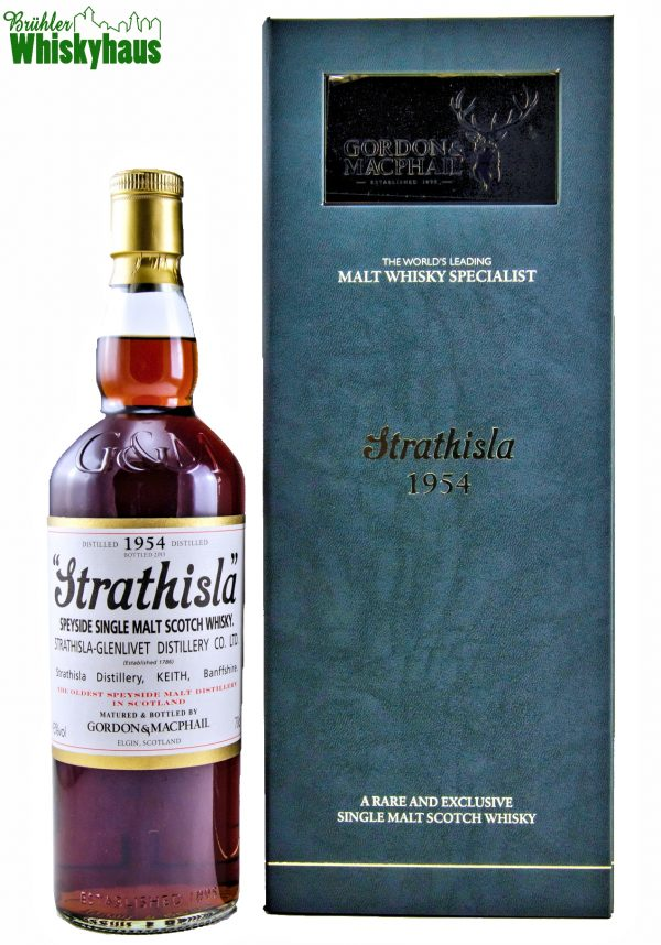Strathisla 59 Jahre - Vintage 1954 - 1st Fill Sherry Butt / Cask N° 907 - Licensed Bottling by Gordon & MacPhail - Single Malt Scotch Whisky