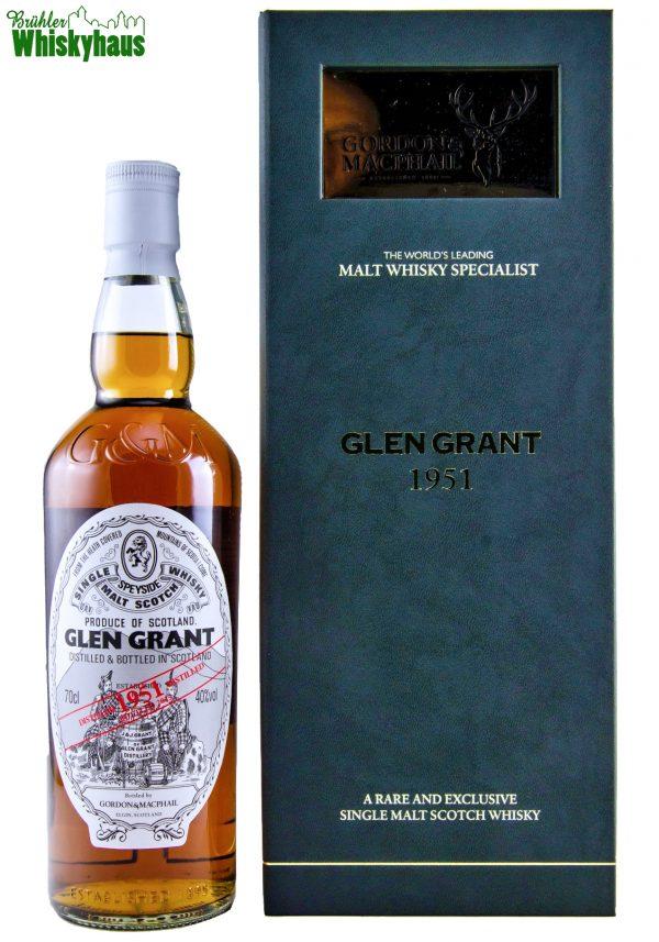 Glen Grant Vintage 1951 - 61 Jahre - 1st Fill and Refill Sherry Butt N° 3202 + 2760 - Gordon & MacPhail - Single Malt Scotch Whisky