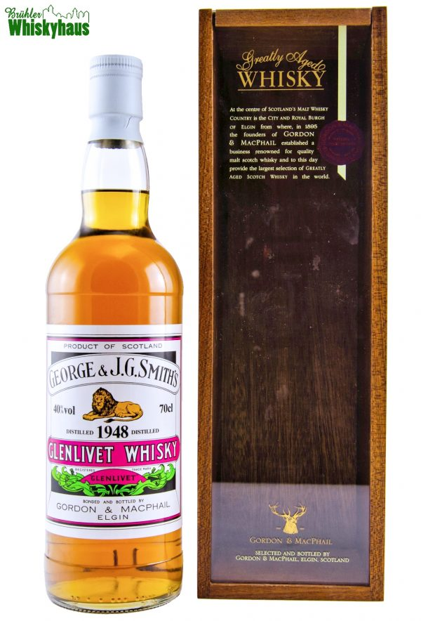 Glenlivet Vintage 1948 - 54 Jahre - George & J.G. Smith's - Rare Vintage Serie by Gordon & MacPhail - Single Malt Scotch Whisky
