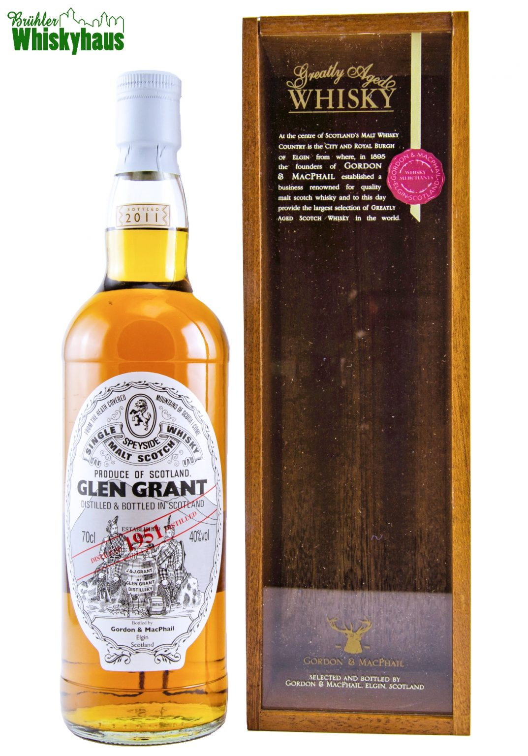 Glen Grant Vintage 1951 - 59 Jahre - Sherry Butt - Gordon & MacPhail - Single Malt Scotch Whisky