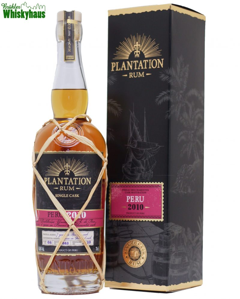 Peru 8 Jahre - Vintage 2010 - Cask No. 08 - Pineau de Charente Cask Finish für 12 Monate - Plantation Single Cask Rum