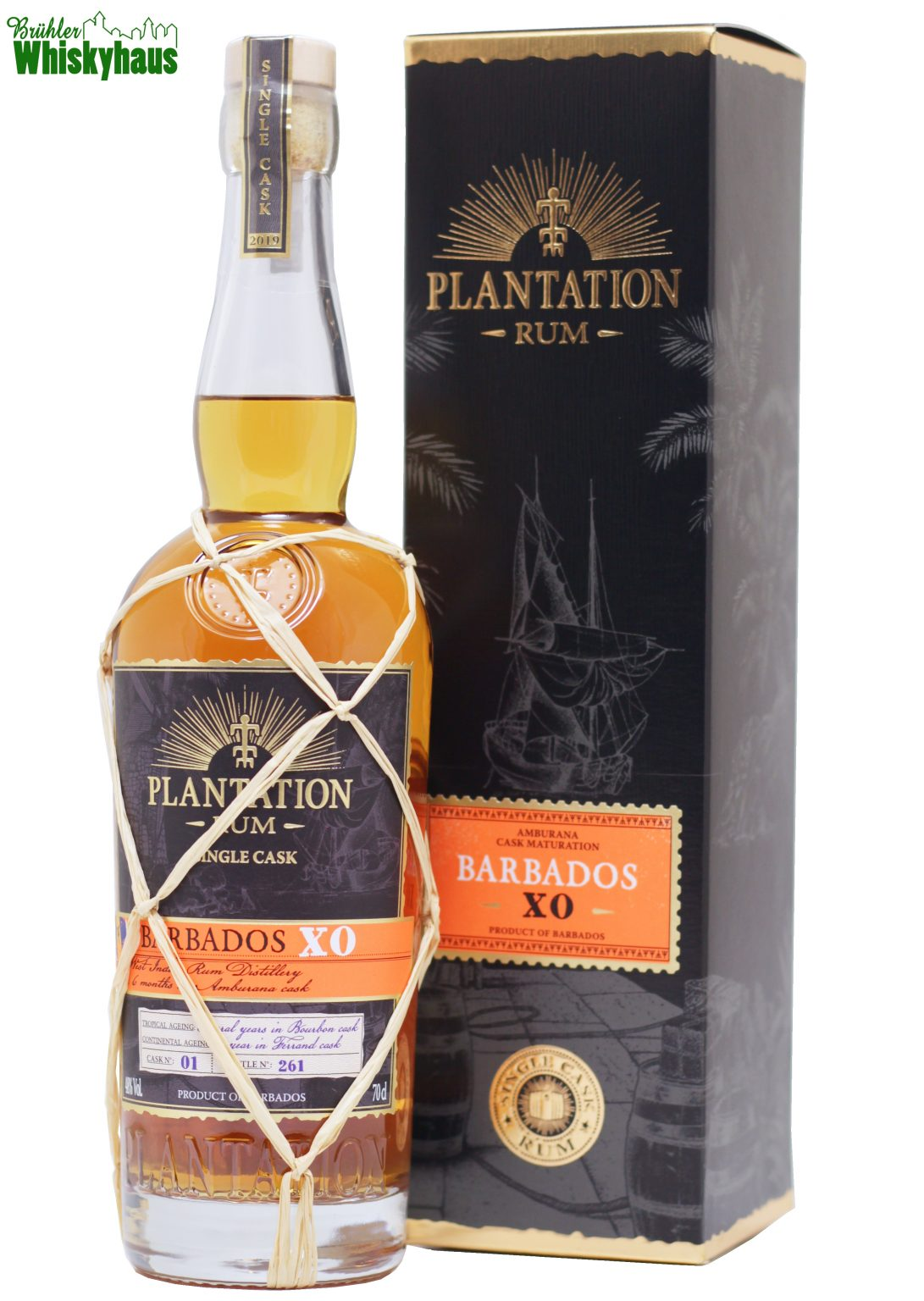 Barbados XO - Cask No. 01 - Amburana Cask Finish - Plantation Single Cask Rum