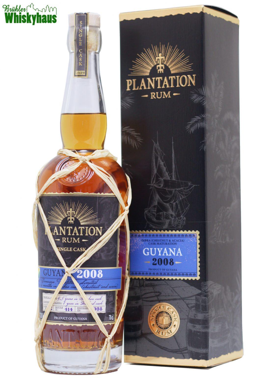 Guyana 11 Jahre - Vintage 2008 - Cask No. 02 - Kastanie & Akazie Cask Finish - Plantation Single Cask Rum