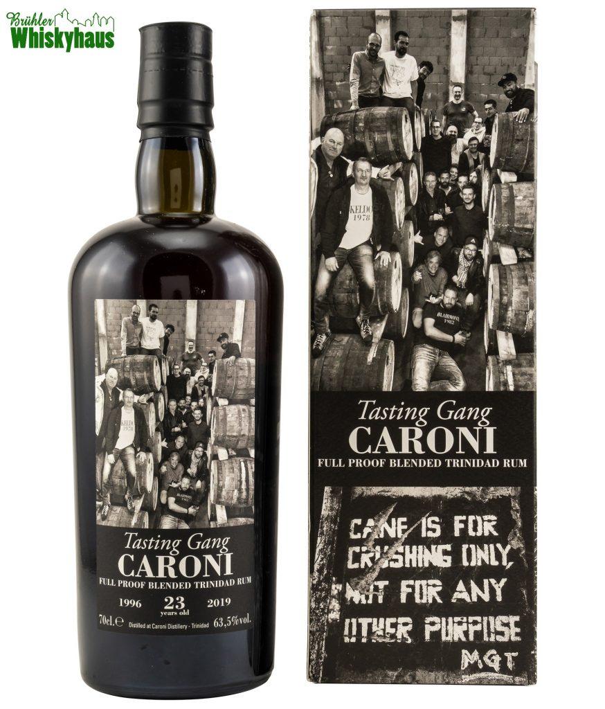 Caroni 23 Jahre - Vintage 1996 - Ex-Bourbon Cask - Tasting Gang Full Proof Blended Trinidad Rum by Velier