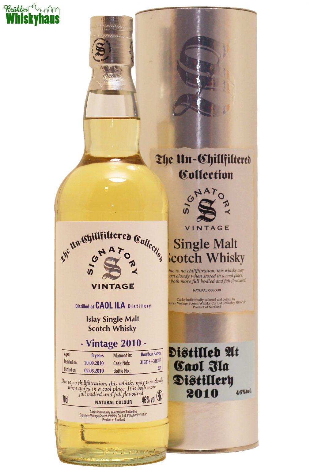 Caol Ila 8 Jahre - Bourbon Barrel 316315 + 316317 - Signatory Vintage - Single Malt Scotch Whisky