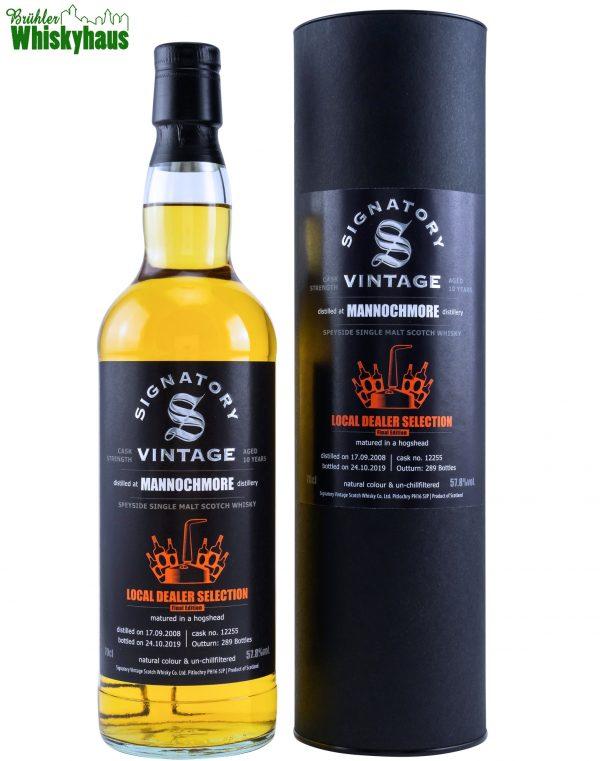 "Mannochmore 11 Jahre – Hogshead No. 12255 – Local Dealer Selection ""Final Edition"" by Signatory Vintage – Speyside Single Malt Scotch Whisky"