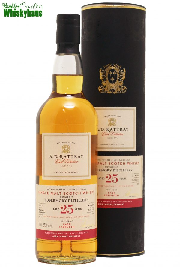 "Tobermory 25 Jahre - Bourbon Hogshead N° 88112 - A.D. Rattray ""Exclusive for Germany"" - Single Malt Scotch Whisky"
