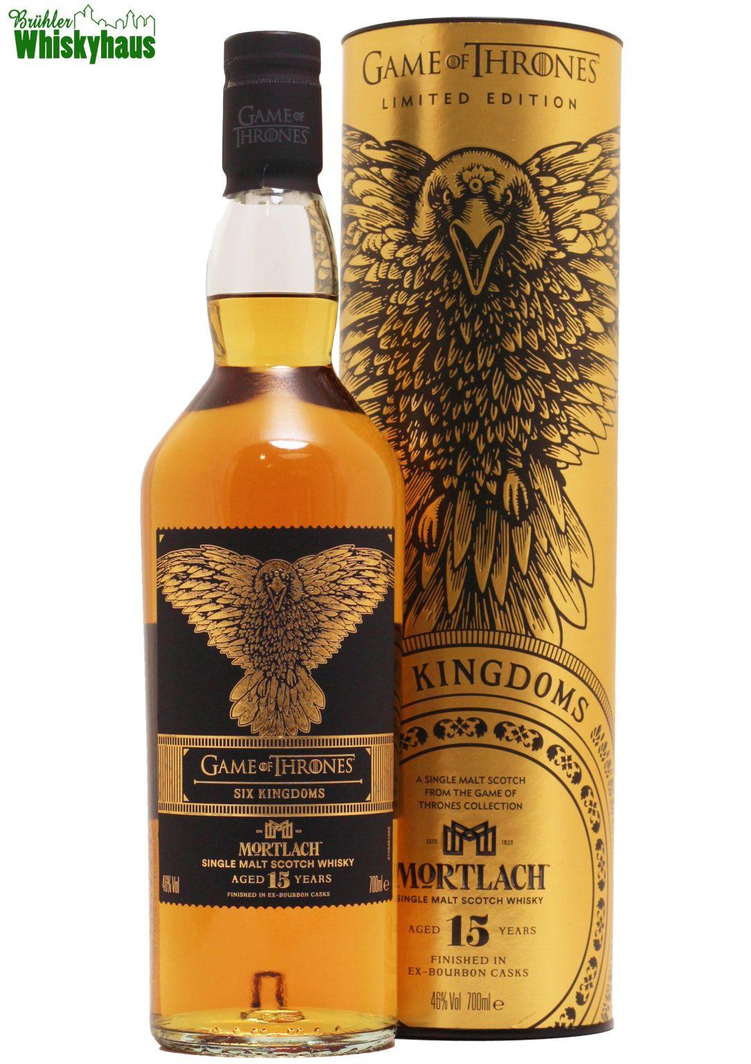 Mortlach 15 Jahre - Six Kingdoms Game of Thrones - Ex-Bourbon Cask Finish - Distillery Bottling - Single Malt Scotch Whisky