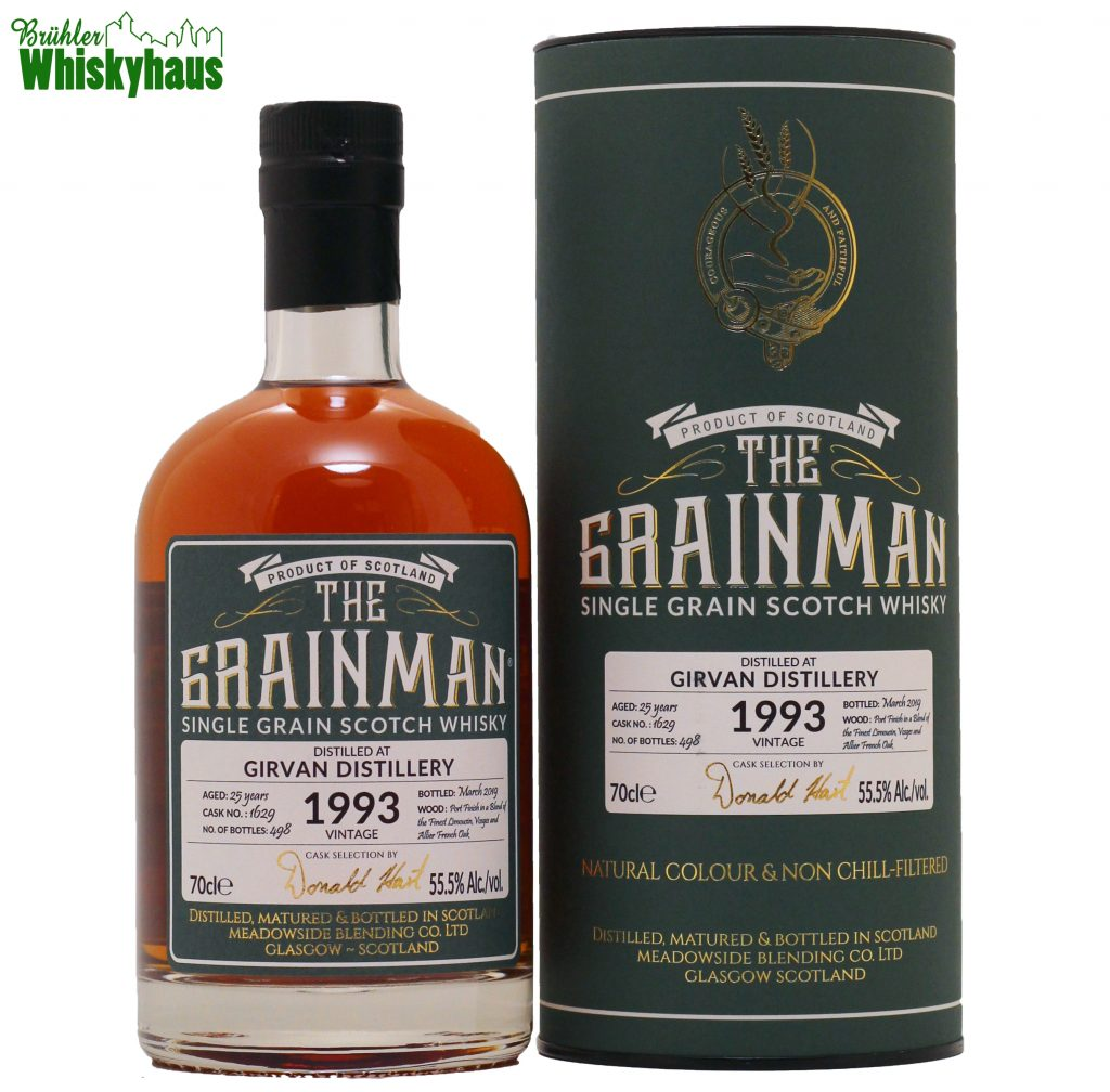Girvan 25 Jahre - Radoux Cask N°.1629 - The Grain Man - Single Grain Scotch Whisky