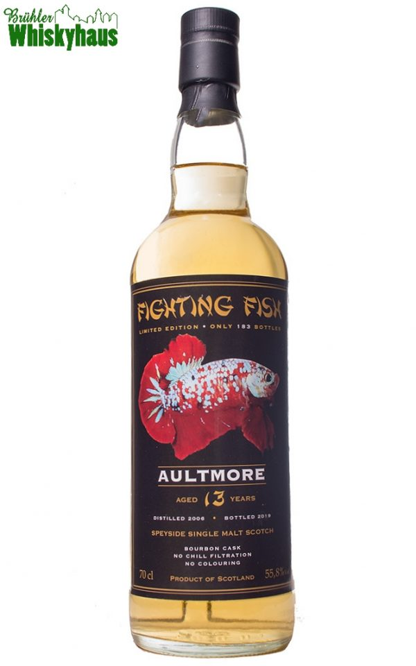 Aultmore 13 Jahre - Bourbon Cask - Fighting Fish by Jack Wiebers Whisky World bottled for Monnier AG