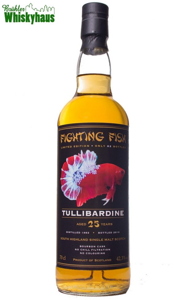 Tullibardine 25 Jahre - Bourbon Cask - Fighting Fish by Jack Wiebers Whisky World bottled for Monnier AG