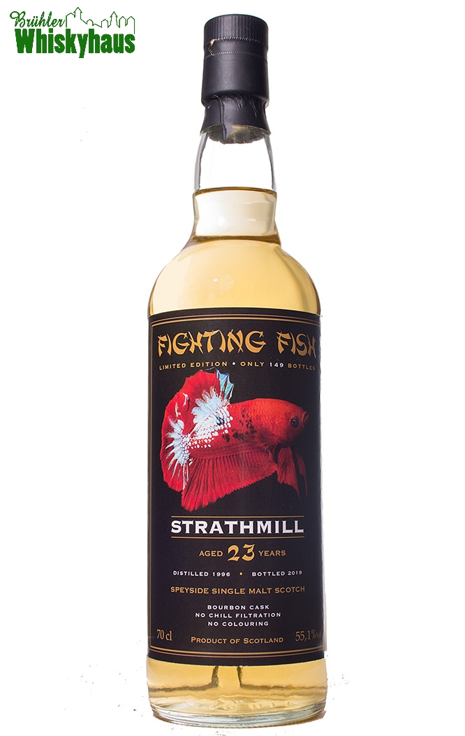 Strathmill 23 Jahre - Bourbon Cask - Fighting Fish by Jack Wiebers Whisky World bottled for Monnier AG