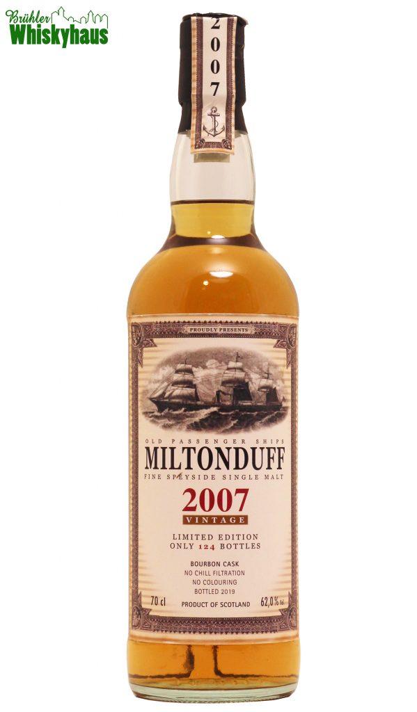 Miltonduff Vintage 2007 - Bourbon Cask N° 900339 - Old Passenger Ships by Jack Wiebers Whisky World - Single Malt Scotch Whisky