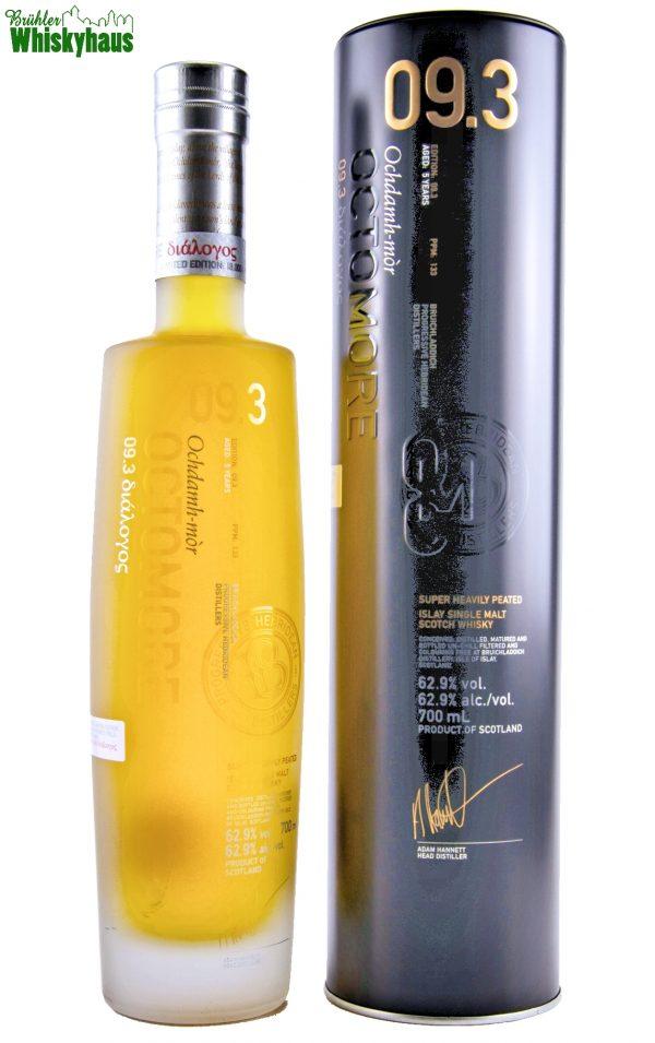 Octomore Edition 09.3 - 5 Jahre - 133ppm - Amerikanische First Fill Eichenfässer & französische Weinfässer - Super Heavily Peated Islay Single Malt Scotch Whisky