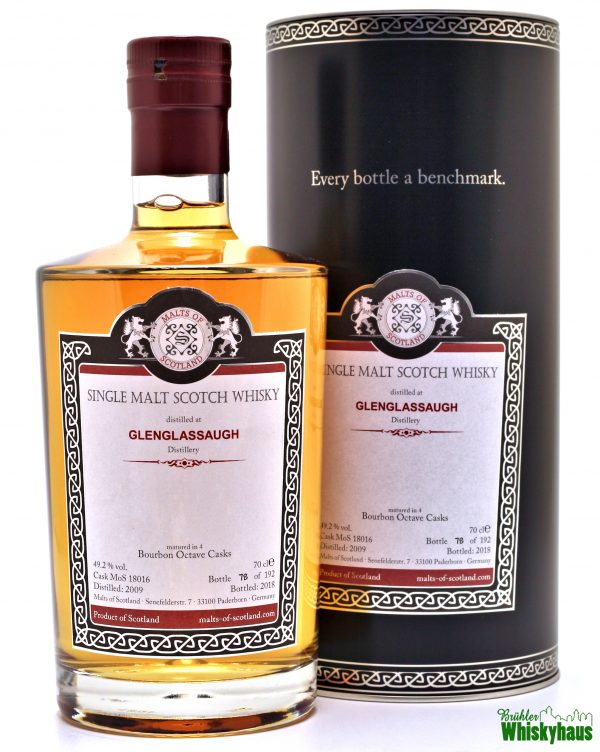 Glenglassaugh 9 Jahre – Bourbon Octave Casks MoS 18016 – Malts of Scotland – Single Malt Scotch Whisky