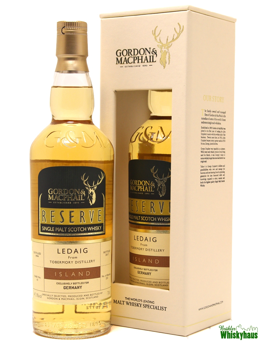 "Ledaig 22 Jahre - Refill American Hogshead N° 10 - Gordon & MacPhail Reserve ""Exclusively Bottled for Germany"" - Single Malt Scotch Whisky"