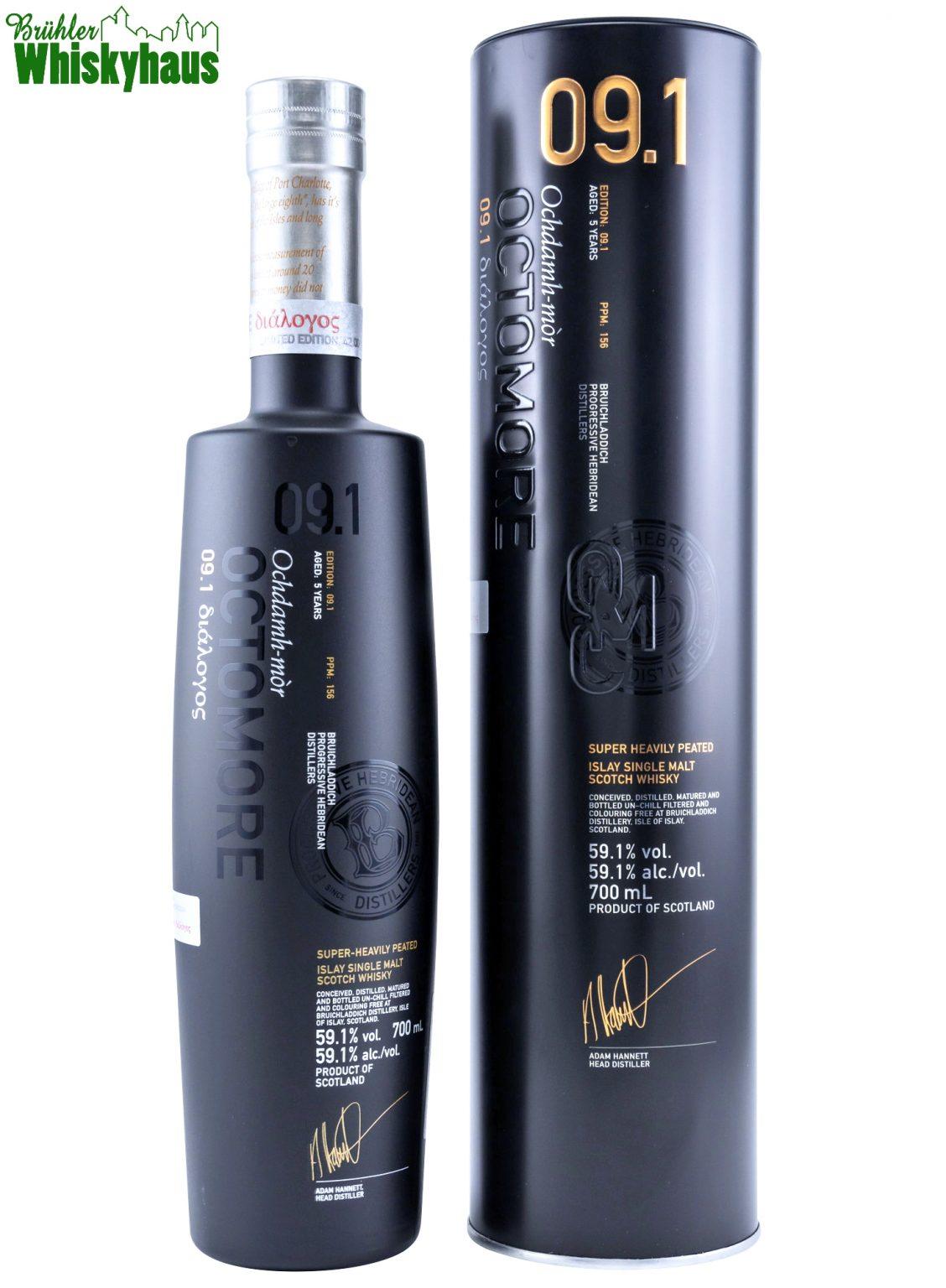 Octomore 09.1 - 5 Jahre - American Oak -Distillery Bottling - Single Malt Scotch Whisky