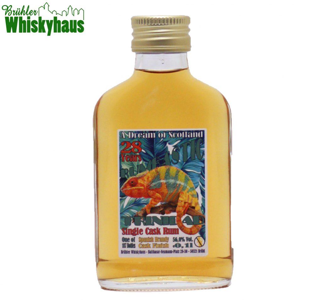 0,1l Trinidad L.T.D. 28 Jahre - Vintage 1991 - Ex-Bourbon Cask / Spanish Brandy Cask Finish - Rumbastic by A Dream of Scotland - Single Cask Rum