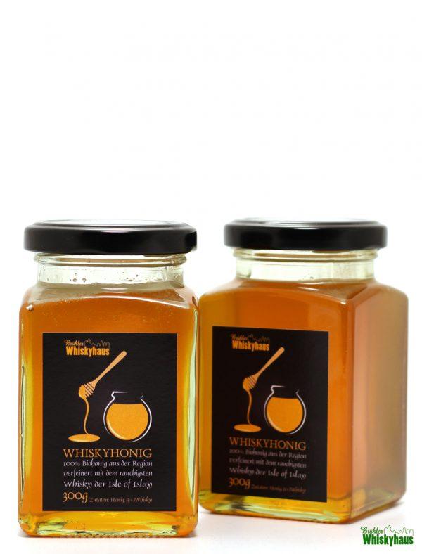 1 Glas Whiskyhonig - 100% Biohonig aus der Region verfeinert mit dem rauchigsten whisky der Isle of Islay - 300g
